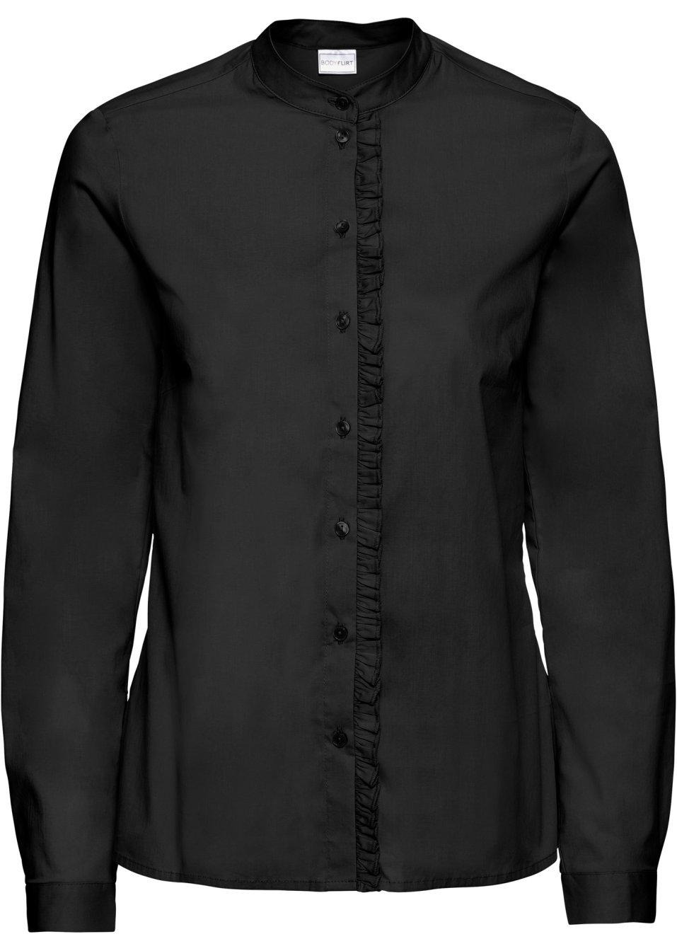Crepe-Blazer langarm in schwarz von bonprix Bodyflirt DjML7rbq