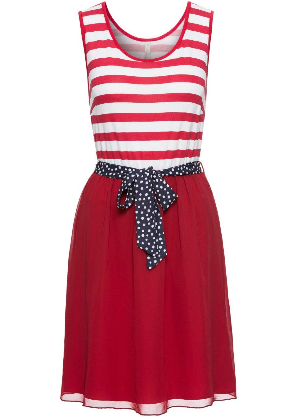 Kleid rot/weiß gestreift - BODYFLIRT boutique - bonprix.de