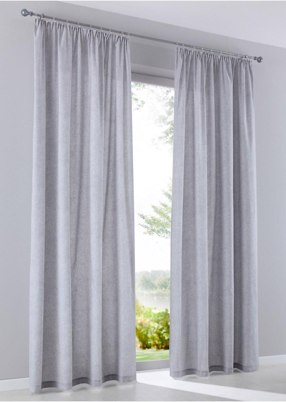 vorhang gunilla 2er pack grau wohnen bpc living. Black Bedroom Furniture Sets. Home Design Ideas