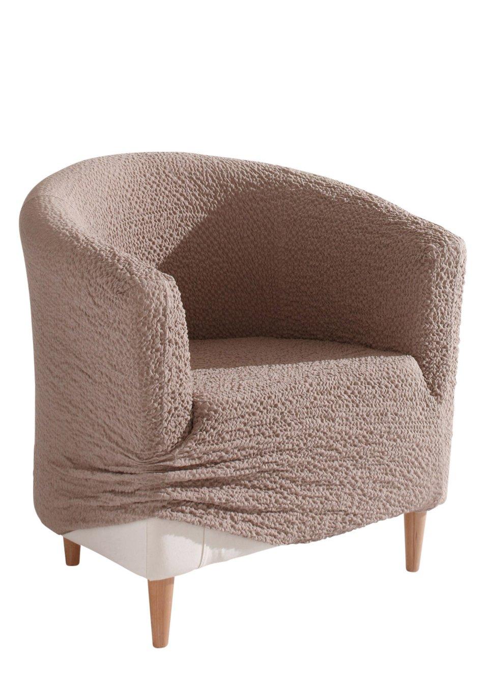 sch ner neuer look sesselhusse crincle caramel. Black Bedroom Furniture Sets. Home Design Ideas
